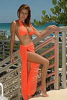 jelly solid color coverups for beach wear